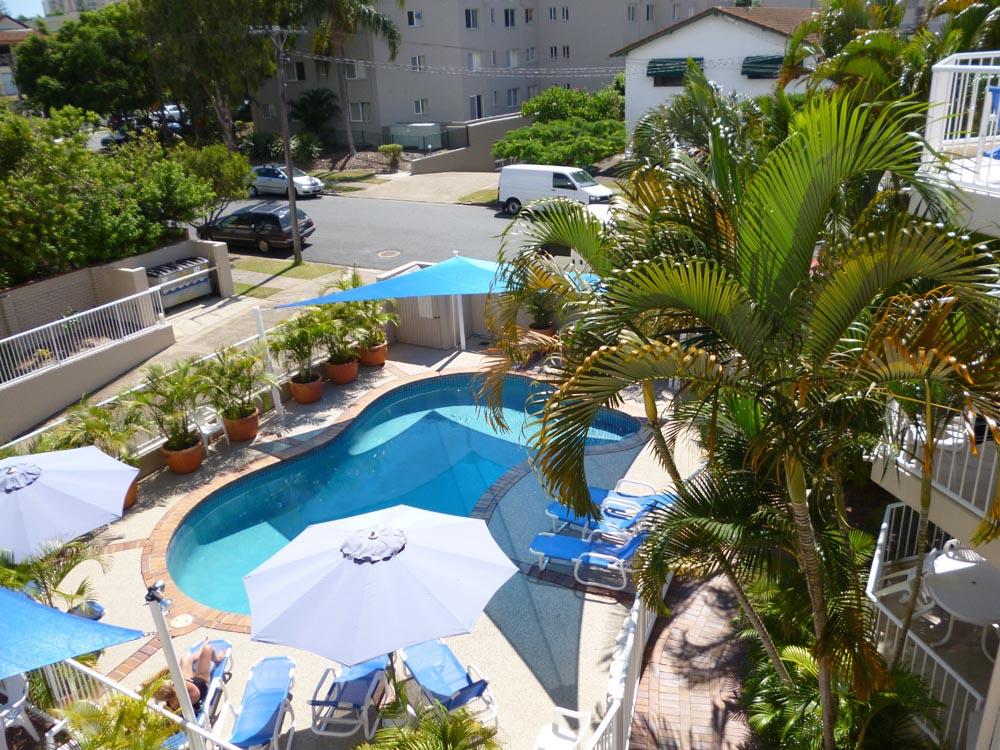 Pool From Balcony